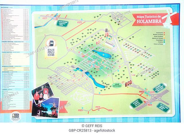 Touristic map of Holambra, São Paulo, Brazil
