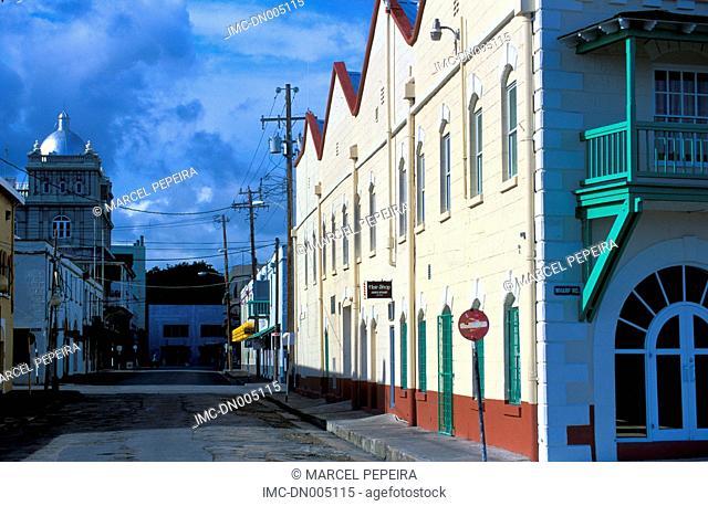Barbados, Bridgetown, empty street