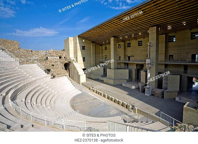 Roman theatre, Sagunto, Spain, 2007. Built in the 1st century AD, Sagunto's Roman theatre was the first National Monument to be declared in Spain (1896)