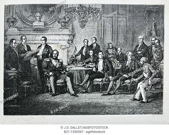 France, History, 19th Century, Congress of Paris, Feb March 1856 - The Congress of Paris took place in 1856 for the purpose of making peace after the almost...