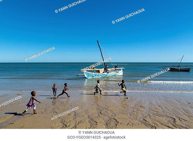 The beach at Antsanitia, Madagascar