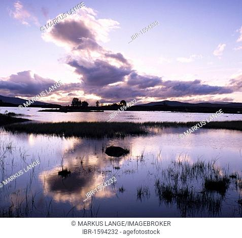 Loch Ba at sunrise, Rannoch Moor, Highlands, Scotland, United Kingdom, Europe