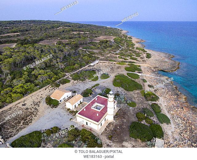 faro de Cap Salines, estacion de investigacion costanera, IMEDEA, Mallorca, balearic islands, spain, europe