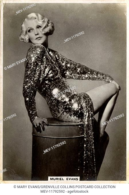 Muriel Evans (1910–2000) - American film actress. She is best known for her many appearances in popular westerns of the 1930s