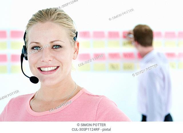 Happy tele worker