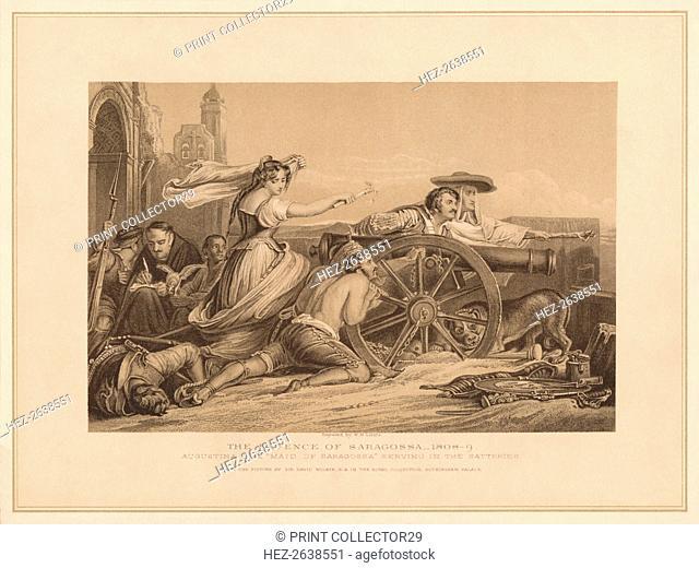 'The Defence of Saragoosa, 1808-9', (1878). Artist: William Home Lizars