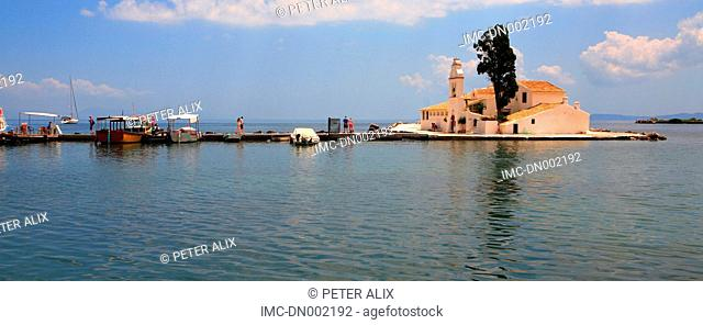 Greece, ionian islands, Corfu, monastery of Vlacherna