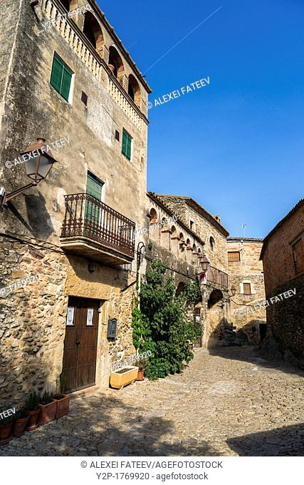 Peratallada, a small medieval town in Catalonia, Spain, declared a historic-artistic monument as one of the most important and well-preserved centers of...