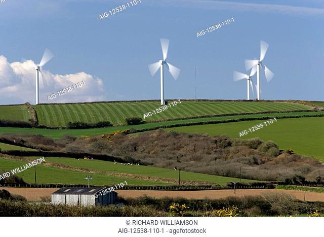 Carland Cross wind farm, Cornwall, UK