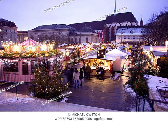 Christmas Market Barfusserplatz Basel Switzerland
