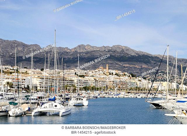 Catamaran, ships, marina, harbor, Altea, Costa Blanca, Alicante province, Spain, Europe