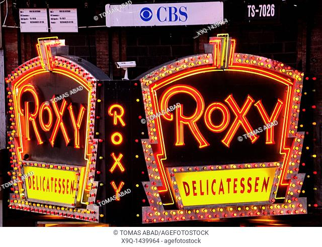 Times Square, 42nd Street, New York City, 2011, famous Roxy Delicatessen