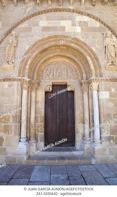 Basilica of San Isidoro, Leon, Spain. Door of Forgiveness