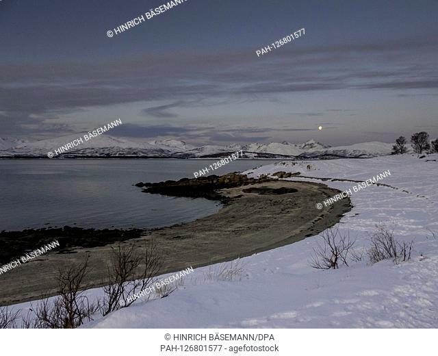 winter landscape in northern Norway, november 2019 | usage worldwide. - Tromsö/Troms/Norway