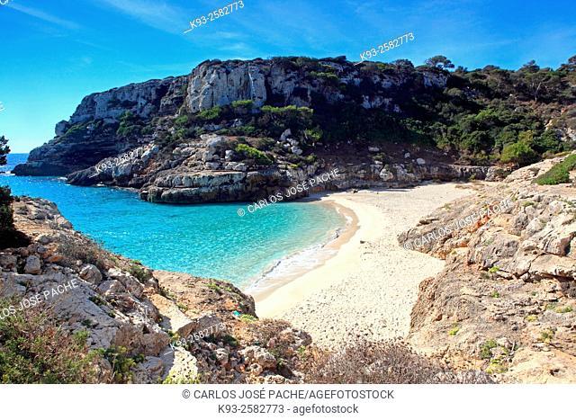 Caló des Màrmols cove, Majorca, Balearic Islands, Spain