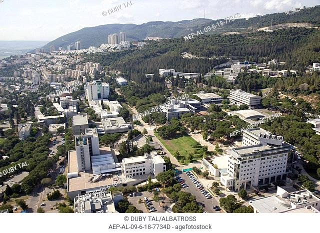 Aerial photograph of the Technion - Israel's institute of Technology in Haifa