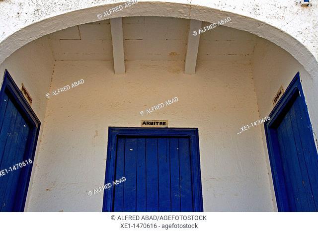 sports locker rooms, Sant Guim de Freixenet, Catalonia, Spain