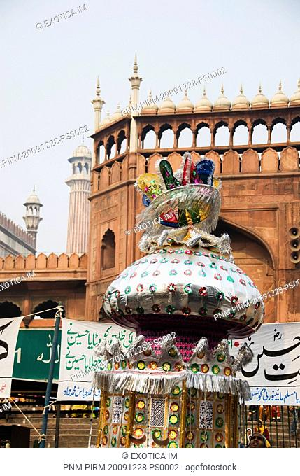Decorated Tazia at a mosque during Muharram, Jama Masjid, Delhi, India