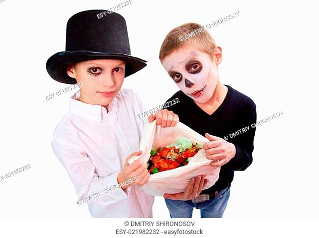 Boys with treats