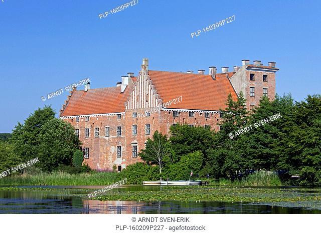 Svaneholms Slott / Svaneholm Castle in summer at Skurup, Skåne / Scania, Sweden