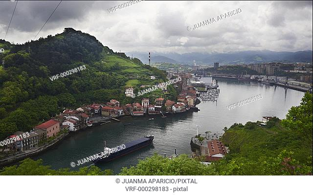 Port of Pasaia view from Above