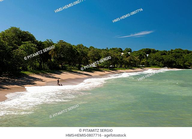 France, Guadeloupe (French West Indies), Basse Terre, Deshaies, Pointe Allegre Beach