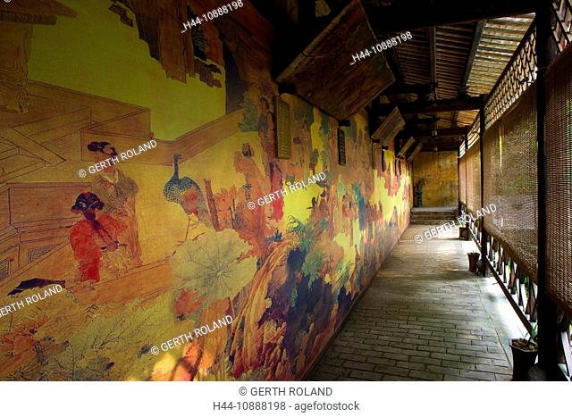 Xingping-Wu Sheng temple, China, Asia, village, temple, mural paintings