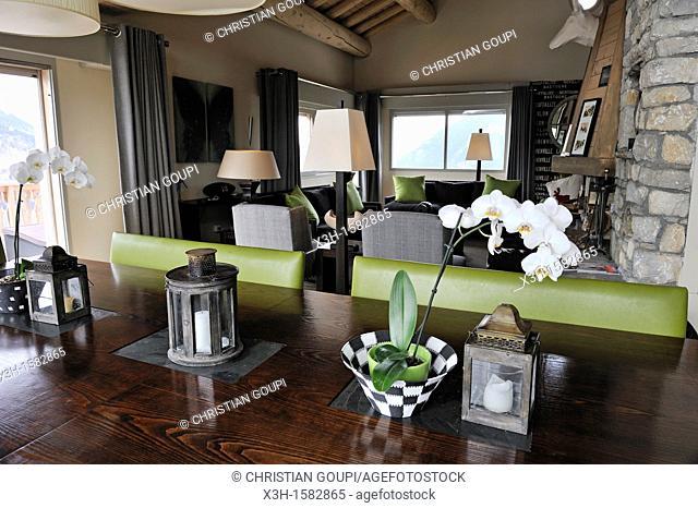 le luxueux hotel Yellowstone Ski Lodge Sainte-Foy-Tarentaise,departement de Savoie,region Rhone-Alpes, France,Europe//the luxury Yellowstone Ski Lodge...