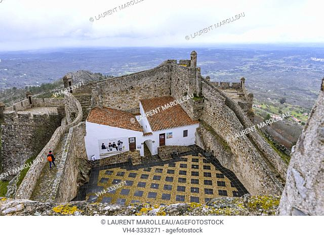 The eastern edge of the fortifications of medieval castle of Marvao, Portalegre District, Alentejo Region, Portugal