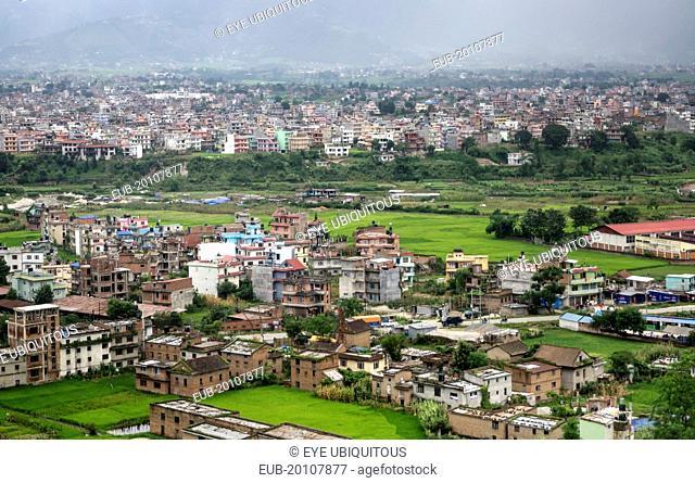 Vew over city housing
