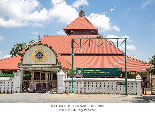 Yogyakarta, Java, Indonesia. Great Mosque, Masjid Gedhe Kauman, mid-18th. Century