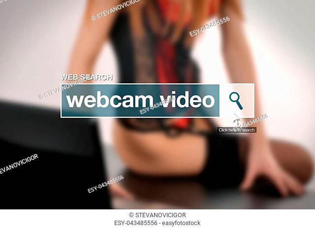 Webcam video web search on internet