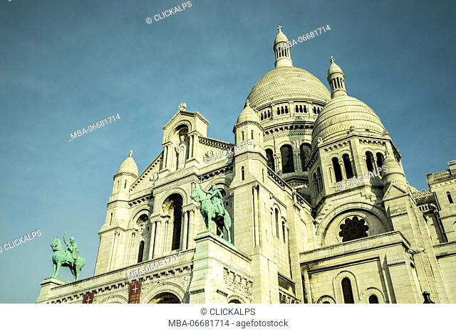 View on basilica of the Sacre Couer, Paris, France