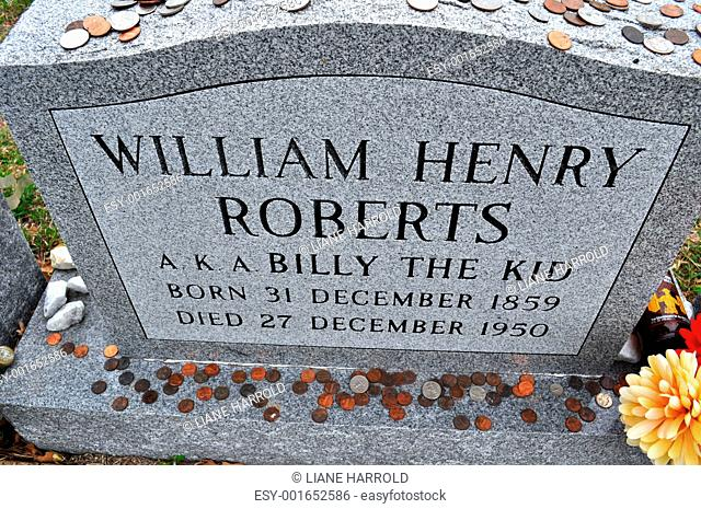 Billy The Kid Cowboy grave marker perspective