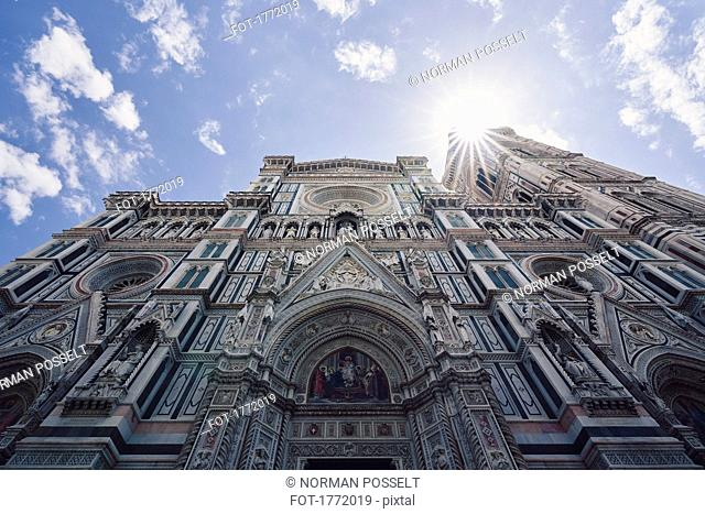 Low angle view Duomo Santa Maria del Fiore, Florence, Tuscany, Italy