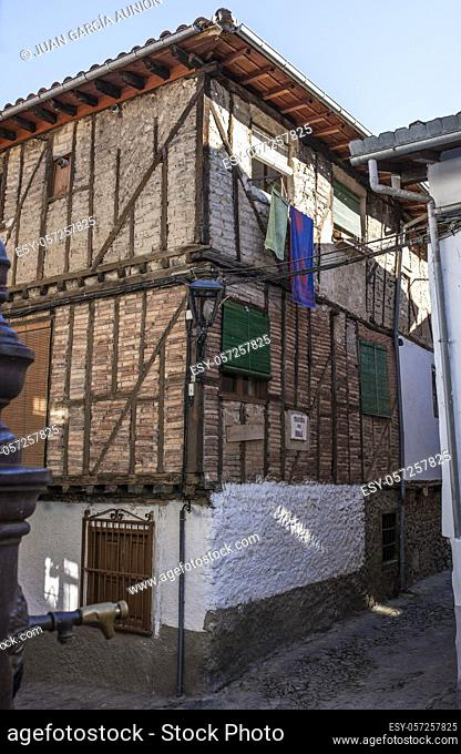 Traditional architecture of Hervas, Ambroz Valley village. Caceres, Extremadura, Spain
