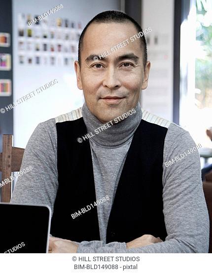 Smiling Japanese businessman