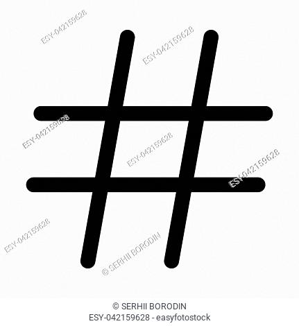 Hashtag it is black color icon