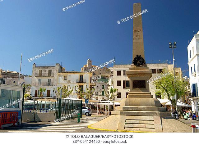 Monumento a los corsarios. Puerto de Eivissa. Ibiza. Illes Balears. España
