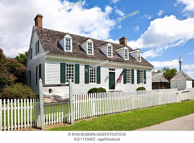 Yorktown, Virginia - Historic Dudley Digges house in Yorktown, Virginia
