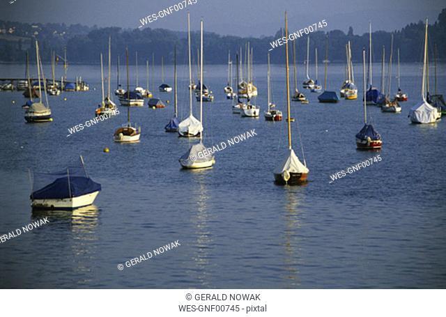 Boats at the , Bavaria, Germany