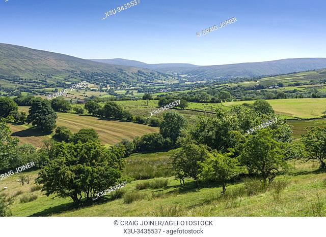The view over Dentdale in the Yorkshire Dales National Park, Cumbria, England