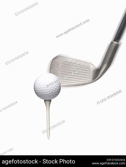 Golf ball isloated on white background