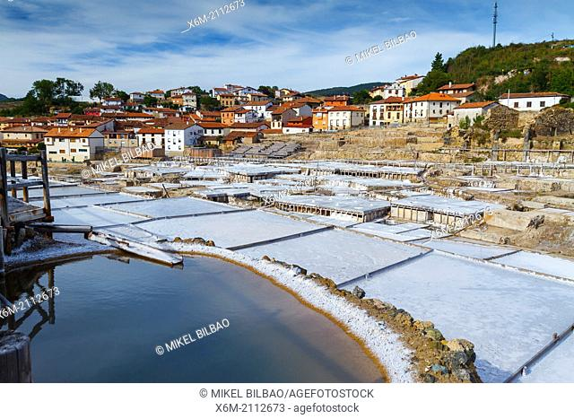 Salinas de Añana. Valle Salado (Salted Valley), Alava, Basque Country, Spain, Europe
