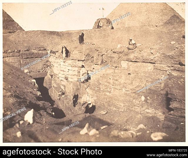 [Excavations near the Sphinx]. Artist: John Beasley Greene (American, active France, 1832-1856); Date: 1853; Medium: Salted paper print from paper negative;...