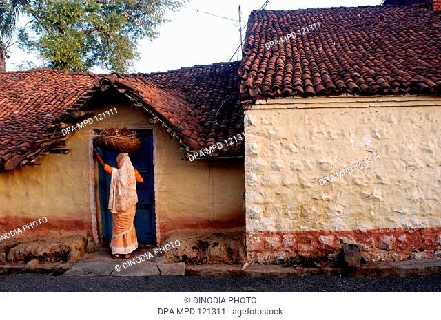 A traditional house Hasur Champu village in Gadhinglaj district of Maharashtra ; India