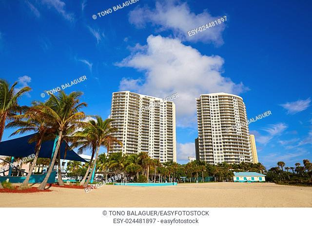 Singer Island beach at Palm Beach Florida Palm trees in USA