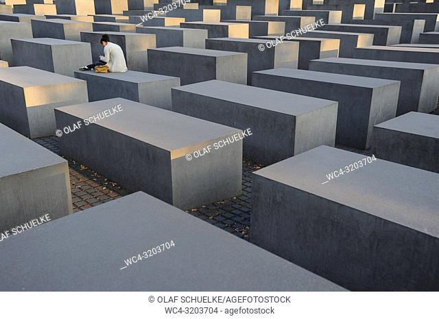 08. 09. 2014, Berlin, Germany, Europe - The Memorial to the Murdered Jews of Eâ. ‹urope, also known as the Holocaust Memorial