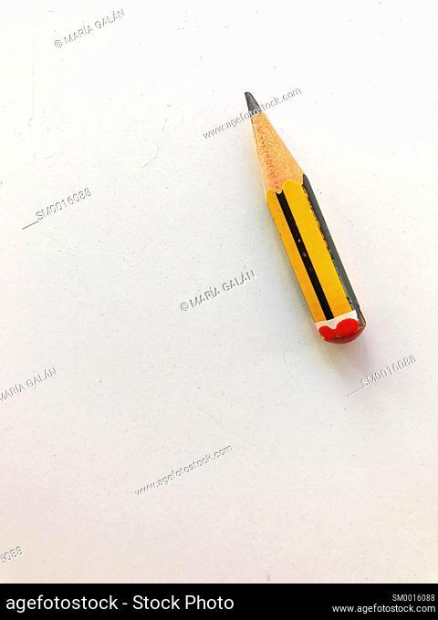 Worn down pencil
