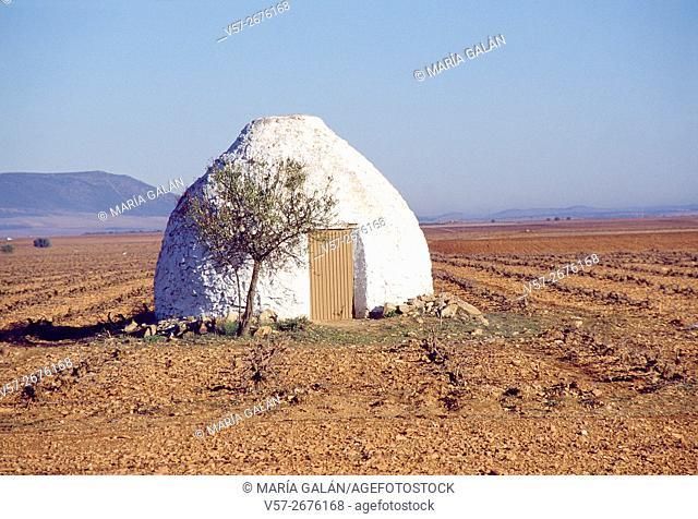Bombo manchego, traditional architecture. Ciudad Real province, Castilla La Mancha, Spain